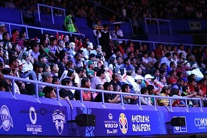 México derrota a Estados Unidos 78-70 rumbo a la Copa Mundial FIBA China 2019 aficionados apoyando a Mèxico