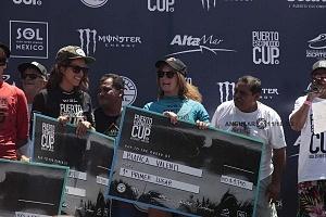 Puerto Escondido Cup 2018 Campeonato Internacional de Surf en Olas Gigantes Bianca Valenti ganadora de la Categorìa femenil