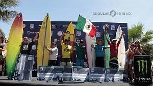 Puerto Escondido Cup 2018 Campeonato Internacional de Surf en Olas Gigantes podium de ganadores categorìa varonil