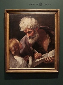 San Mateo y el Angel, Guido Reni ca 1620 oleo sobre tela