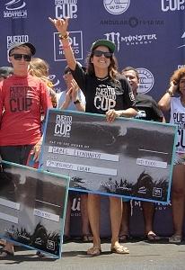 Surfista Isabelle Leonhardt de México 2o lugar del Puerto Escondido Cup 2018 (1)