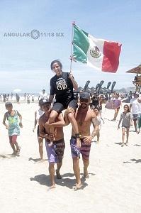 Surfista Isabelle Leonhardt de México 2o lugar del Puerto Escondido Cup 2018