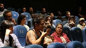 conferencia de prensa en torno al film de Sin muertos no hay carnaval