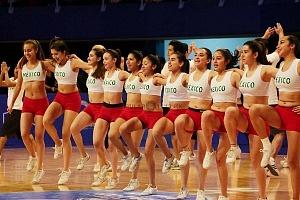 porristas en el encuentro entre Mèxico vs Estados Unidos rumbo a la Copa Mundial FIBA China 2019