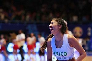 porristas en el encuentro entre Mèxico vs Estados Unidos rumbo a la Copa Mundial FIBA China 2019 gimnasio Juan de la Barrera