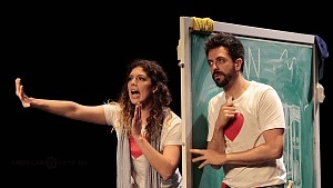 puesta en escena Romeo y Julieta de Bolsillo, en el Centro Cultural Hèlenico, Foro la Gruta