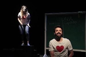 puesta en escena, Romeo y Julieta de Bolsillo, en el Centro Cultural Hèlenico, Foro la Gruta