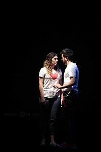 puesta en escena, Romeo y Julieta de Bolsillo, en el Centro Cultural Hèlenico, Foro la Gruta 5