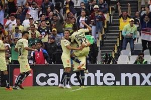 AMÉRICA venció 3-1 al ATLAS en la jornada 2 del torneo apertura 2018 en el estadio Azteca festejo del gol