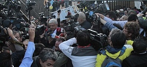 Andrés Manuel López Obrador durante la jornada electoral del 1 de julio