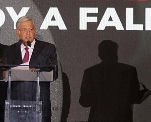 Andrés Manuel López Obrador es el nuevo Presidente Electo de México en su declaraciòn de triunfo en el hotel HILTON de reforma 2