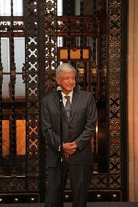 Andrés Manuel López Obrador presidente electo de México en conferencia de prensa en Palacio Nacional 1