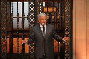 Andrés Manuel López Obrador presidente electo de México en conferencia de prensa en Palacio Nacional
