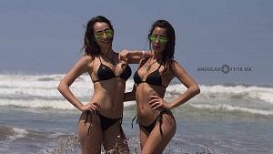 Hurley Surf Open Acapulco 2018 QS 1,000 edecanes del patrocinador Monster