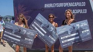 Hurley Surf Open Acapulco 2018 surfistas ganadoras Amanda Macalay, Maya Larripa y Aloha López