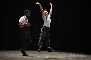 Les Ballets Jazz de Montréal ensayo general previo a la presntación en el teatro Esperanza Irís de la ciudad de Mèxico i