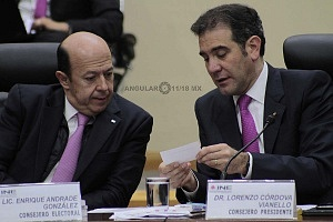 Lorenzo Córdova Vianello Consejero Presidente del INE en la sesión del 1 de julio 2018