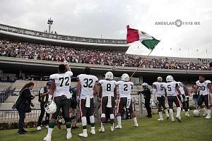 México derrota a Estados Unidos en el mundial de Futbol americano U-19 por 33-6 en el estadio OlÍmpico Universitario en CU festejo