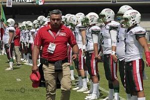 México derrota a Estados Unidos en el mundial de Futbol americano U-19 por 33-6 en el estadio Olimpico Universitario en CU inicio del encuentro Hed Couch Arturo Es