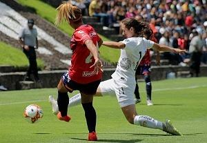 Pumas derrota al Veracruz en la liga MX Femenil 2-0 en la jornada 3 2018 (2)