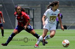 Pumas derrota al Veracruz en la liga MX Femenil 2-0 en la jornada 3