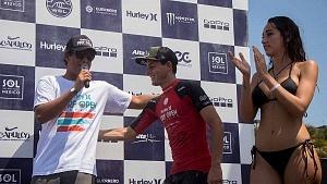 Surfista Lucca Mesinas ganador absoluto del Hurrley Surf Open Acapulco 2018 QS 1,000 PODIUM