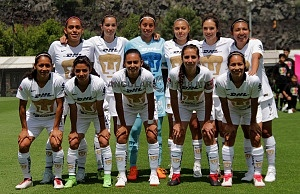 equipo titular de Pumas femeil frente a Veracruz en la jornada 3