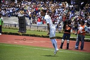 festejo del gol del chileno Martin Rodriguez de Pumas