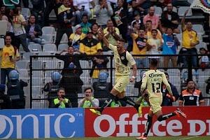 festejo del primer gol del América frente al Atlas en la jornada 2 del apertura 2018 (1)