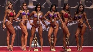 Campeonas de Fisicoconstructivismo de la Categoria Señorita Perfección en el 66 clásico Mr México 2018