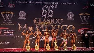 Campeones de Fisicoconstructivismo en el 66 clásico Mr México 2018