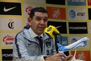 Director Tecnico de Pumas David Patiño despues del partido frente al América en la jornada 7
