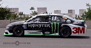 Escudería Monster piloto Hugo Olivera septima fecha de la Nascar México auto numero 11