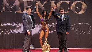 Ganadora en la categoria Bikini Fitness con el número 1416, Abigail Hinojosa