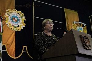 Michelle Bachelet ex presidenta de Chile participo en la Cátedra Internacional por los Derechos Humanos y la Paz Alfonso García Robles 1