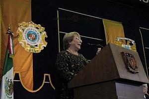 Michelle Bachelet ex presidenta de Chile participo en la Cátedra Internacional por los Derechos Humanos y la Paz Alfonso García Robles 3