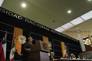Michelle Bachelet ex presidenta de Chile participo en la Cátedra Internacional por los Derechos Humanos y la Paz Alfonso García Robles