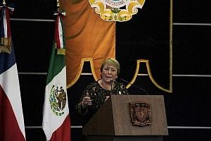Michelle Bachelet ex presidenta de Chile participo en la Cátedra Internacional por los Derechos Humanos y la Paz Alfonso García Robles 4
