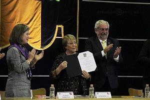 Michelle Bachelet ex presidenta de Chile participo en la Cátedra Internacional por los Derechos Humanos y la Paz Alfonso García Robles 5