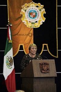 Michelle Bachelet ex presidenta de Chile participo en la Cátedra Internacional por los Derechos Humanos y la Paz Alfonso García Robles 9