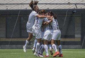 Pumas derrota a Lobos BUAP en la Jornada 5 de la Liga MX Femenil por 1-0 festejo del gol