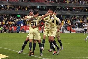 festejo del gol del América ante Pumas en la Jornada 7 del apertura 2018 Ea