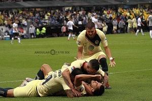 festejo del gol del América ante Pumas en la Jornada 7 del apertura 2018 fe