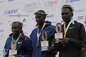 ganadores de la edición XXXVI del Maratón de la Ciudad de México