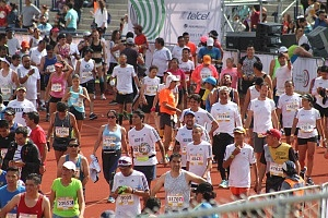 llegada a la meta del maratón de la ciudad de México 2018