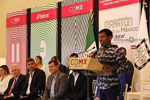 maratonista Haile Gebrselassie en la presentación de la 36 edición del Maratón de la CDMX 2018 (1)