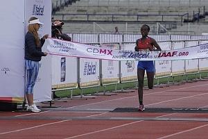primer lugar femenil del Maratón de la Ciudad de México 2018 la etíope Etaferahu Woda