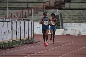 segundo lugar femenil del Maratón de la Ciudad de México 2018 la etíope Fantu Eticha Jimmacon llegando a la meta