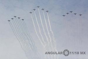 El Desfile Militar del 16 de Septiembre de 2018 contó con la participación 160 aeronaves