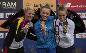Anastasiya Prokopenko ganó el oro en la prueba individual femenil del Campeonato Mundial de Pentatlón Moderno, CDMX 2018